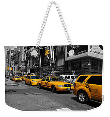 Yellow Cabs Weekender Tote Bag by Randi Grace Nilsberg