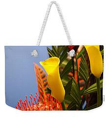 Yellow Calla Lilies Weekender Tote Bag by Jennifer Ancker