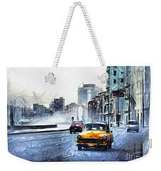 Yellow Car Weekender Tote Bag