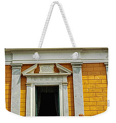 Weekender Tote Bag featuring the photograph Yellow Church by Allen Beatty