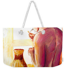 Yellow Cigarette  Weekender Tote Bag