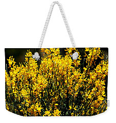 Weekender Tote Bag featuring the photograph Yellow Cluster Flowers by Matt Harang