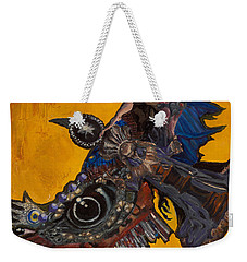 Yellow Crow Weekender Tote Bag by Emily McLaughlin