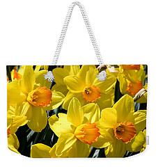 Yellow Daffodils Weekender Tote Bag by Menachem Ganon