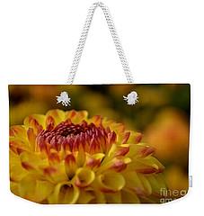 Yellow Dahlia Red Tips Weekender Tote Bag