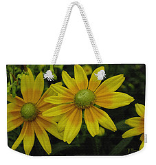 Weekender Tote Bag featuring the photograph Yellow Daisies by James C Thomas