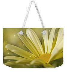 Yellow Daisy Weekender Tote Bag by Ann Lauwers
