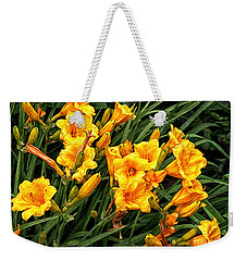 Yellow Daylilies Weekender Tote Bag by Lena Auxier