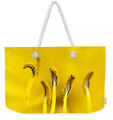 Yellow Weekender Tote Bag by Dee Cresswell