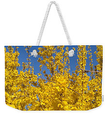 Yellow Explosion Weekender Tote Bag