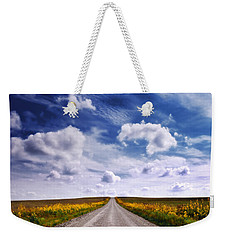 Yellow Flower Road Weekender Tote Bag
