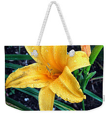 Weekender Tote Bag featuring the photograph Yellow Flower by Sergey Lukashin