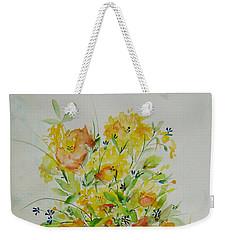 Yellow Flowers Weekender Tote Bag by Judith Rhue