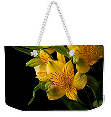 Weekender Tote Bag featuring the photograph Yellow Flowers by Sennie Pierson