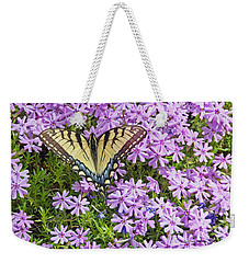 Yellow Flutterby Weekender Tote Bag by Kenny Francis