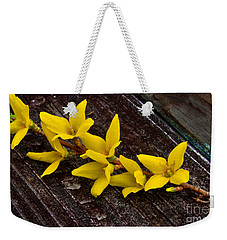Yellow Forsythia Weekender Tote Bag