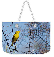 Yellow Galapagos Warbler Weekender Tote Bag