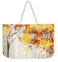Yellow Gray And Red Weekender Tote Bag