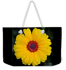 Weekender Tote Bag featuring the pyrography Yellow by Greg Moores