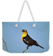 Yellow-headed Blackbird Singing Weekender Tote Bag