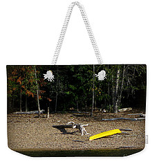 Yellow Kayak Weekender Tote Bag by Leone Lund