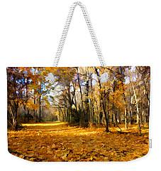 Yellow Leaf Road Weekender Tote Bag