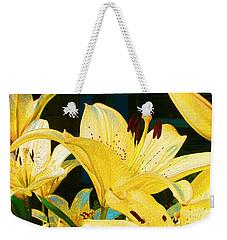 Yellow Lilies Weekender Tote Bag