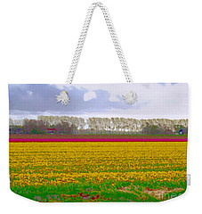 Weekender Tote Bag featuring the photograph Yellow Meadow by Luc Van de Steeg