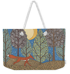 Yellow Moon Rising Weekender Tote Bag