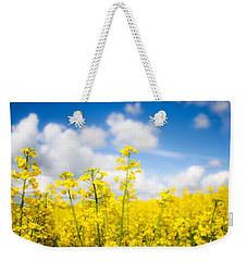 Yellow Mustard Field Weekender Tote Bag