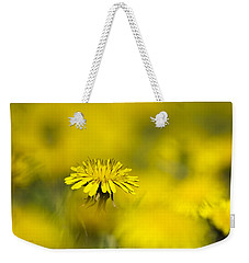 Yellow On Yellow Dandelion Weekender Tote Bag