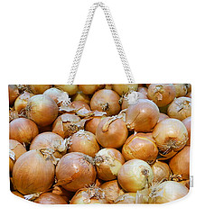 Weekender Tote Bag featuring the photograph Yellow Onions by Emmy Marie Vickers