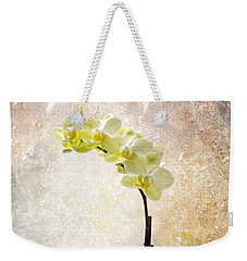 Yellow Orchid Weekender Tote Bag by Patti Deters