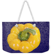 Weekender Tote Bag featuring the photograph Yellow Bell Pepper by Vizual Studio