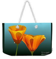 Yellow Poppies Weekender Tote Bag by Rand Herron