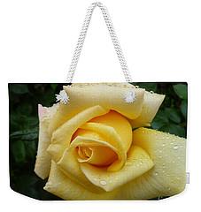 Yellow Rose Say Goodbye Weekender Tote Bag