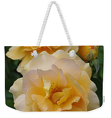 Weekender Tote Bag featuring the photograph Yellow Roses by Marilyn Wilson