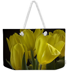 Weekender Tote Bag featuring the photograph Yellow Silk by Lucinda Walter