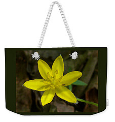 Yellow Star Weekender Tote Bag by William Tanneberger
