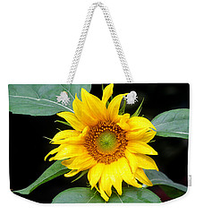Yellow Sunflower Weekender Tote Bag by Trina  Ansel