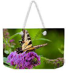 Yellow Tiger Swallow Tail Butterfly Weekender Tote Bag
