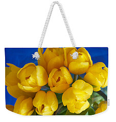 Yellow Tulips Weekender Tote Bag