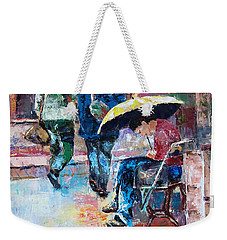 Yellow Umbrella Weekender Tote Bag