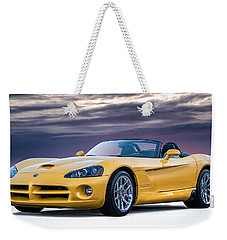 Yellow Viper Convertible Weekender Tote Bag by Douglas Pittman