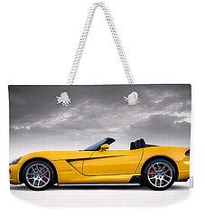 Yellow Viper Roadster Weekender Tote Bag by Douglas Pittman