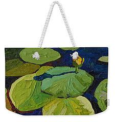 Yellow Waterlily Weekender Tote Bag