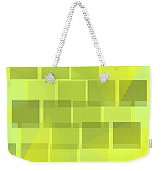 Weekender Tote Bag featuring the digital art Yellow Whimsy by Mary Bedy
