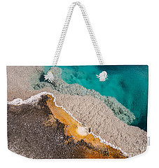 Yellowstone Abstract Weekender Tote Bag by Sue Smith
