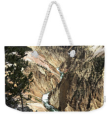 Weekender Tote Bag featuring the photograph Yellowstone Canyon by Laurel Powell