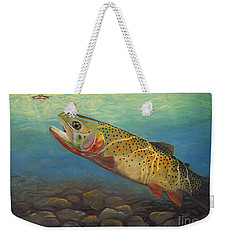 Yellowstone Cut Takes A Salmon Fly Weekender Tote Bag
